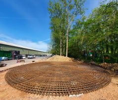 Reinforced Slab Foundations for sprinkler tanks by Piling and Underpinning Specialists jun-2021